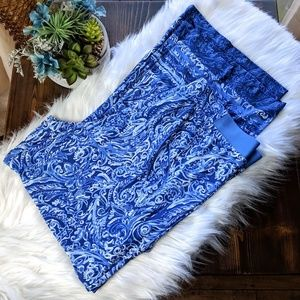 Ruby Rd Blue Marble Palazzo Pants Large